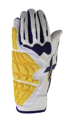 Xprotex Men's Raykr White/Navy Blue Batting Glove, Right, XX-Large by Xprotex