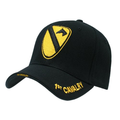Rapid Dominance Genuine The Legend, Military Branch Caps (Adjustable , 1st. Cavalry Black) (1st Cavalry Ball Cap)