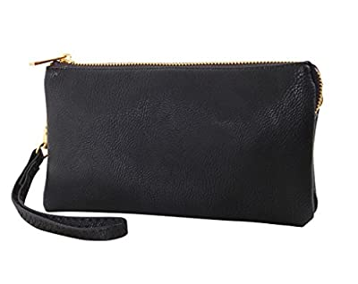 Humble Chic Women's Large Wristlet with Included Cross Body Strap - Vegan Leather Crossbody Bag