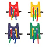 Dodge Tag Vest Sticky Tails Outdoor Sports Training Educational Toy 1 Vest 5 Straps (Yellow)