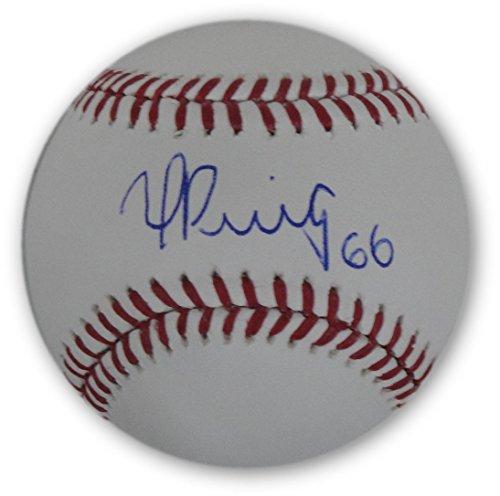 Yasiel Puig Hand Signed Autographed Auto MLB Baseball Sweet Spot Puig (Puig Model)