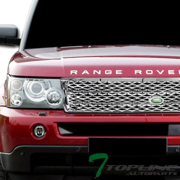 Topline Autopart Chrome Honeycomb Mesh Front Hood Bumper Grill Grille ABS For 06-09 Land Rover Range Rover Sport L320 (Body Range Sport Kit Rover)