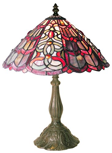Tiffany-style geometric Table Lamp by Warehouse of Tiffany