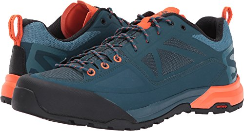 Salomon Men's X Alp Spry Hiking Shoe, Mallard Blue/Reflecting Pond/Scarlet Ibis, 9 M US by Salomon