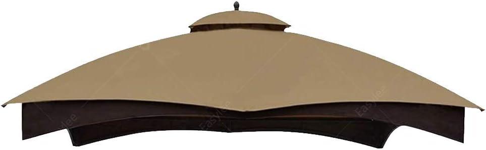 Hofzelt Outdoor Gazebo Replacement 10'x12' Canopy Soft-Top 2-Tier Patio Canvas Cover for Lowe's 10' x 12' Gazebo Model #GF-12S004BTO/GF-12S004B-1 (Khaki)
