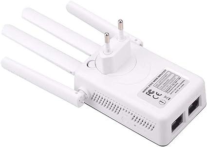 Docooler WiFi Extender 300 Mbit/s Wireless Amplificador de señal de pared de Internet Booster Wide Range Repetidor / Modo AP 4 antenas externas de ...