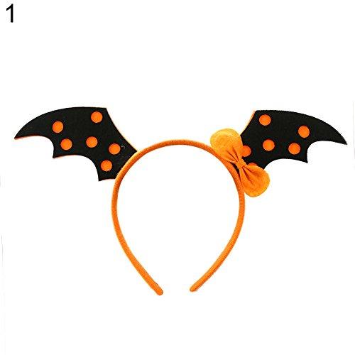 (yanQxIzbiu Hair Clasp Pumpkin Witch Skeleton Halloween Prop Make-up Party Headband for Kids -)