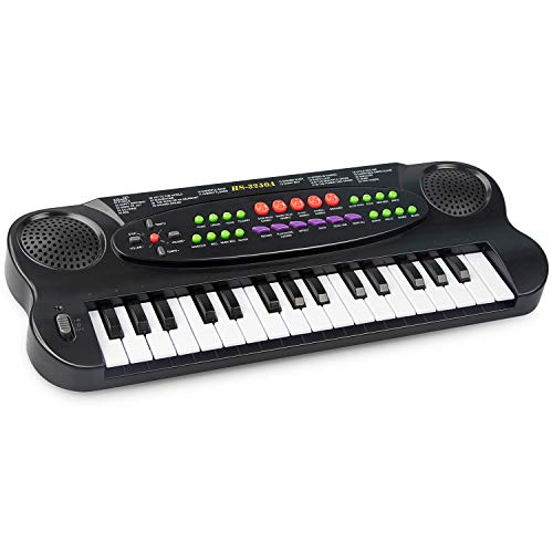 SAOCOOL Kids Piano, 32 Keys Multifunction Electronic Piano Keyboard for Boys and Girls Over 3 Years Old (Black)