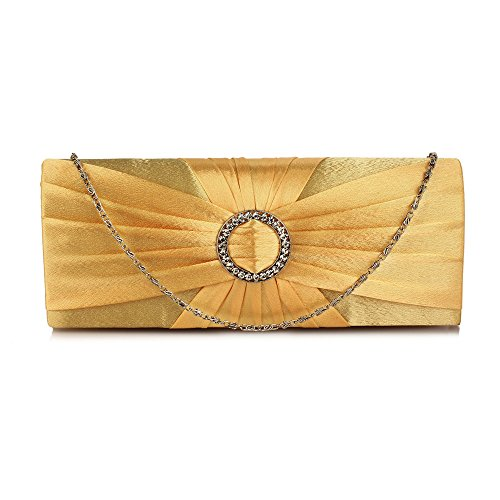 FREE Gold Beautiful UK DELIVERY Crystal Satin Sparkly Evening Bag Rx7wqvf