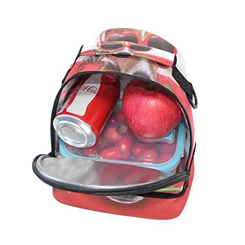 la de perro hombro Alinlo almuerzo para de correa con ajustable Bolsa aislamiento escuela para con pincnic de q5w5ORTxC