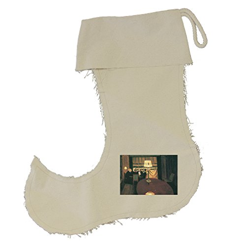 Poker Players (Vallotton) Cotton Canvas Stocking Jester - Small by Style in Print
