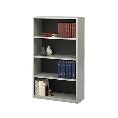 Safco Home Office 4-Shelf ValueMate Economy Bookcase - Gray