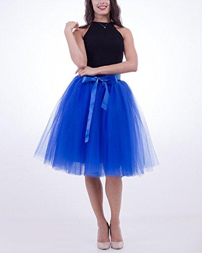 Rtro en Robe Tulle Vintage Petticoat Couches Femme Jupon sous Jupe 7 Incarnadin Tutu Comall 65cm qPwYg4