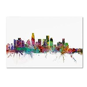 e05d6347e57 Amazon.com  Los Angeles California Skyline by Michael Tompsett ...