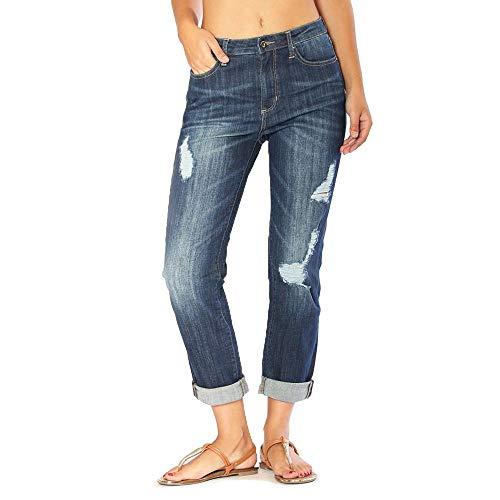 Women's Distressed Girlfriend Jeans | JGF-9264 - Size 27 Blue