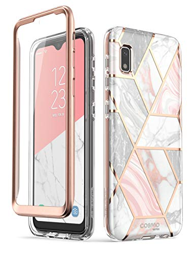 i-Blason Cosmo Series Case for Galaxy A10e, Slim Full-Body Stylish Protective Case with Built-in Screen Protector (Marble)