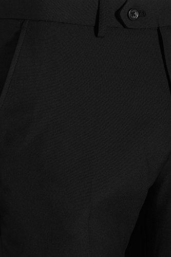 next Homme Pantalon sans pinces Noir 34 / Long - Regular Fit