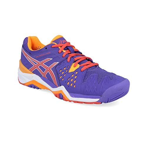 Donna Scarpe arancione Tennis Asics 6 corallo Viola Da Gel resolution qWwYaO