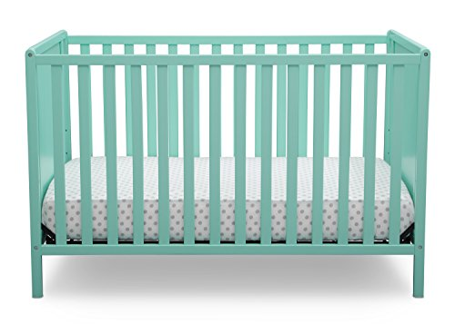 Aqua Changing Table - Delta Children Logan 4-in-1 Convertible Crib, Aqua