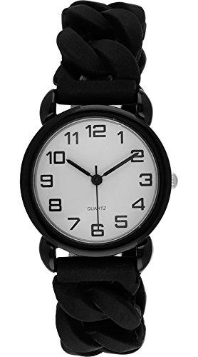 Moulin Unisex Easy Reader Silicone Stretch Black Watch #13591.70483