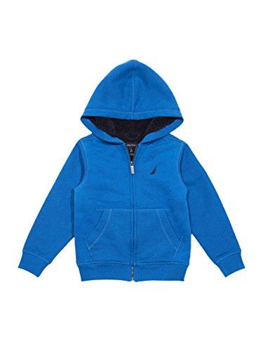 Nautica Boy's Big Expedition Sherpa Fleece Full Zip Hoodie, Dark Turquoise, Medium (10/12)