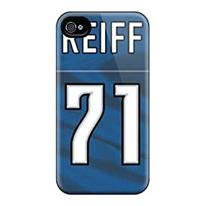 Snap-on Detroit Lions Case Cover Skin Compatible With Iphone 4/4s