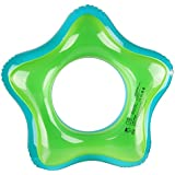 Mocoosy Inflatable Swim Ring Pool Swimming Tube for Adults Kids Luck Star Shape Swimming Floats for Beach Party (Green,35.43'')