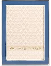 Lawrence Frames 5x7 Navy Enamel Picture Frame, Blue