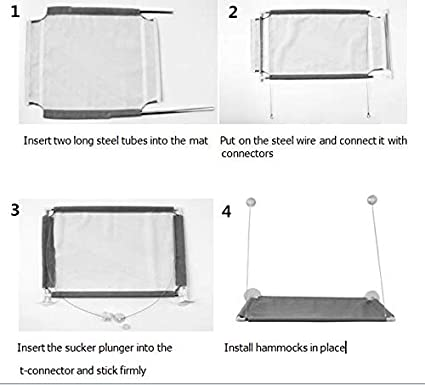 SYPETCARELL Cat Window Perch Cat Hammock Kitty Bed Durable Pet Perch Sunny Seat Window-Mounted Cat Bed Providing All Around 360/° Sunbath for Cats