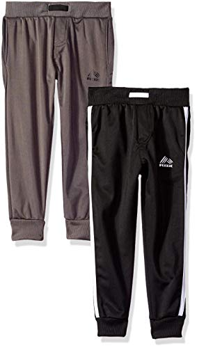 (RBX Boys' Little 2 Pack Tricot Pants, Midnight with White/Solid Forged Iron 7)