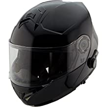 Hawk H7000 Glossy Black Modular Motorcycle Helmet with Blinc Bluetooth - X-Large