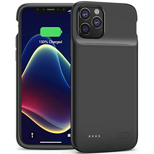 Battery Case for iPhone 11 Pro, Smiphee iPhone 11Pro Battery Case, 4800mAh Portable Protective Charging Case Extended Rechargeable Charger Case Smiphee (Black)