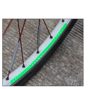 5pcs Reflective Security Stickers Bike Cycling Wheel Rim Decal Tape Safer--green (Green Wheel Rim Tape compare prices)