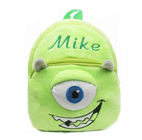 Price comparison product image Kids Babies Todlers Nursery Vocational Backpack Angrybirds,  Hello Kitty,  Batman,  Superman,  Spiderman (Small (23cm x 21cm x 8cm),  Mike)