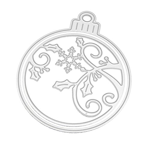 Christmas Cutting Dies, KANZER Metal Dies Stencils for Scrapbooking Embossing DIY Crafts Card Making (D)