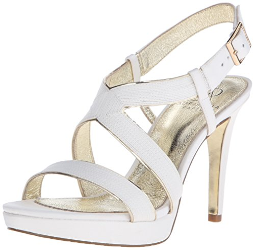 Adrianna Papell Womens Anette Platform Dress Sandal Ivory jd5p0