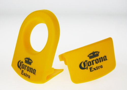 Mexican Glass Margarita Blue Rim 20 Oz with Coronarita Clips Corona Beer Holders (set of 2) by Mexican Margarita Glasses (Image #3)