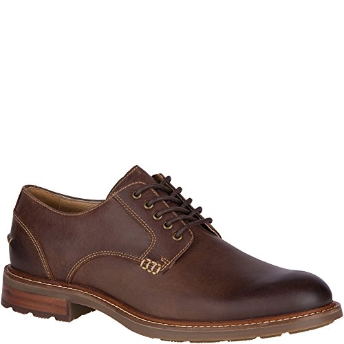 SPERRY Men's Annapolis Plain Toe Oxford, Brown, 9.5