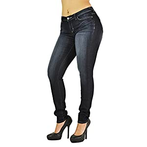 Poetic Justice Tall Women's Curvy Fit Vintage Stretch Denim Midrise Skinny Jeans