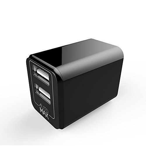 Mcdodo Mini USB Wall Charger ULTRA COMPACT Dual Port 2.4A Output & Foldable adapter Plug Compatible iPhone iPad Samsung Galaxy, HTC Nexus Moto, Bluetooth Speaker, Powerbank (Wall Charger Black)