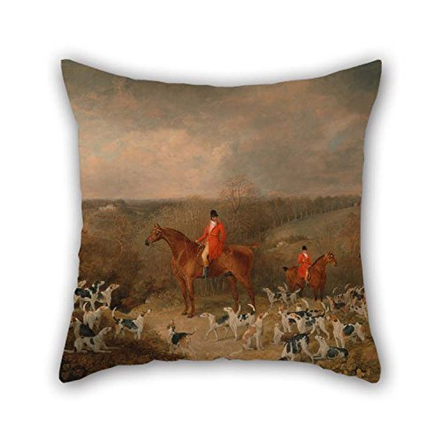 beeyoo 18 X 18 Inches / 45 by 45 cm Oil Painting Dean Wolstenholme - Lord Glamis and His Staghounds Pillowcase Double Sides is Fit for Kitchen Christmas Home Office Sofa Bf Monther