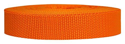Strapworks Heavyweight Polypropylene Webbing - Heavy Duty Poly Strapping for Outdoor DIY Gear Repair, 1 Inch x 25 Yards - Orange ()