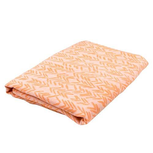Oliver & Rain Baby Swaddle Blanket - Newborn 100% Organic Cotton Coral Chevron Print -