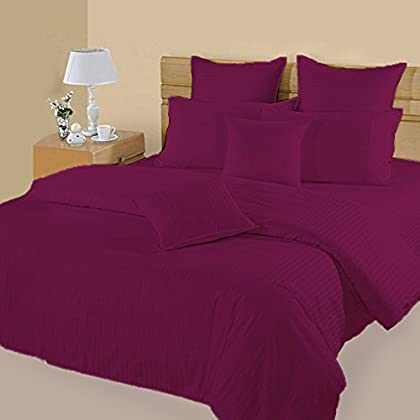 Image of 100% Egyptian Cotton Extra Soft & Comfortable 5 Pieces Bedding Sheet Set - Comforter - Flat Sheet - Fitted Sheet and Pillow Covers Home and Kitchen