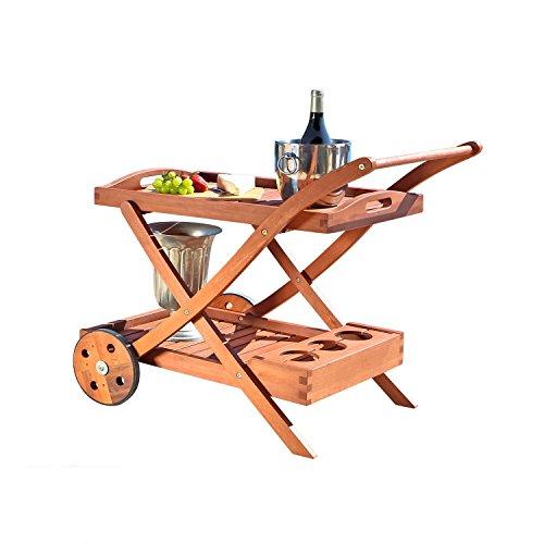 VIFAH V501 Outdoor Wood Serving Cart (Bar Ebay Furniture)