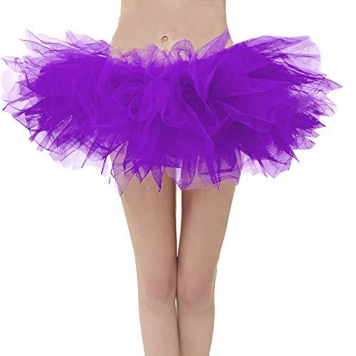 Topdress Layered Tulle Tutu Skirts Purple Plus -