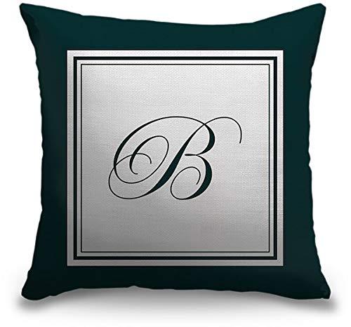 円アートグループインドア黄麻布スロー枕 – 文字B – フォーマルBorder 16