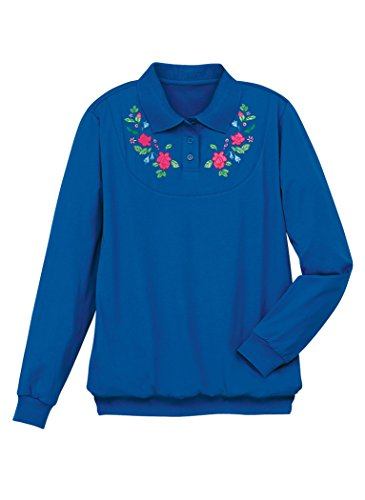 AmeriMark Embroidered Yoke (Embroidered Banded Bottom Shirt)