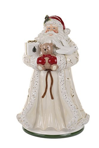 Spode Christmas Tree Santa Cookie Jar, Large, Gold by Spode