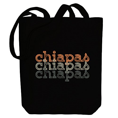 retro Bag Idakoos Cities repeat Canvas Idakoos Chiapas repeat retro Chiapas Tote rYaWSwxBvY